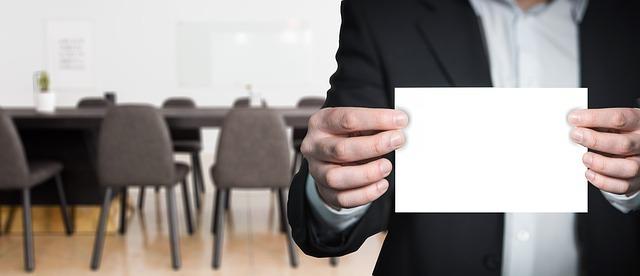 branding blank card